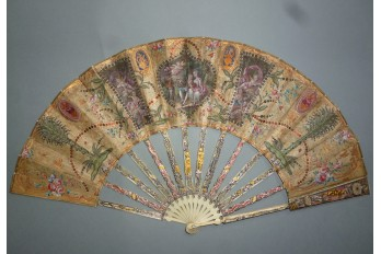 Palms and mica, fan circa 1780