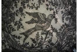 Les oiseaux, éventail en dentelle vers 1885