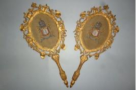 Gloria Sanctus, Alleliua, Paire d'écrans XIXème siècle