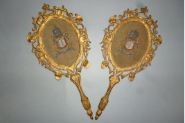 Gloria Sanctus, Alleliua, two fixed fans, 19th century