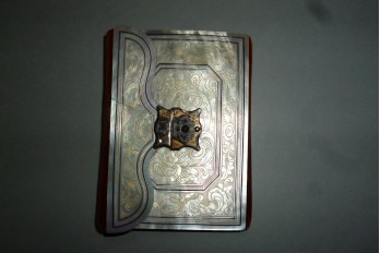 Mother of pearl notebook, 1849