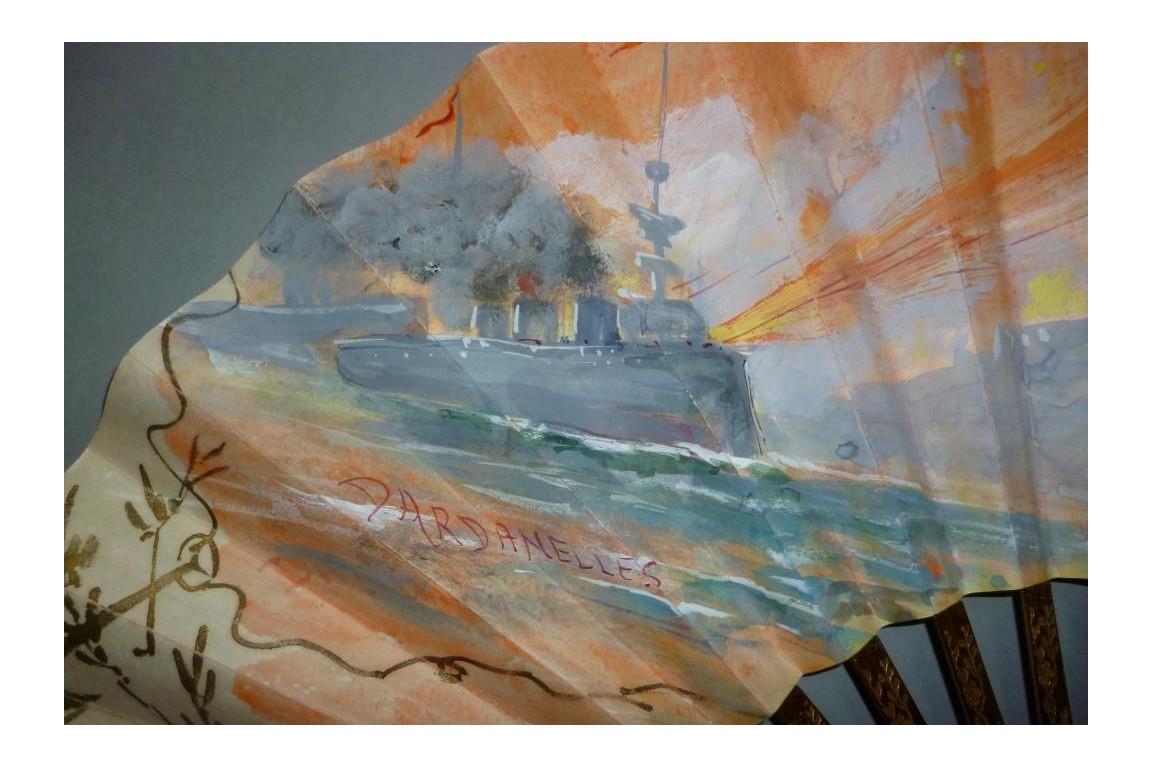 Bataille des Dardanelles, éventail militaria, 1914-1916