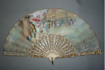 Summer rain, fan by Estève, circa 1910