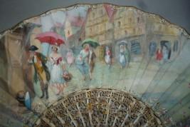 Pluie d'été, éventail d'Estève, vers 1910