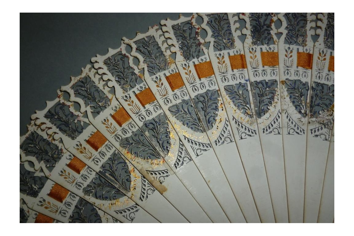 Dance card fan, circa 1825-30