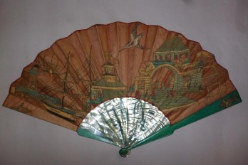 The seaport, fan late 19th century, early 20th century