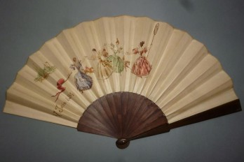 Horse racing, fan by Faucon, 1894
