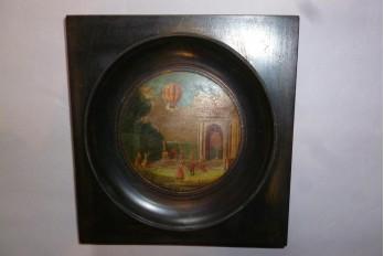 L'envol du ballon, miniature fin XIXème