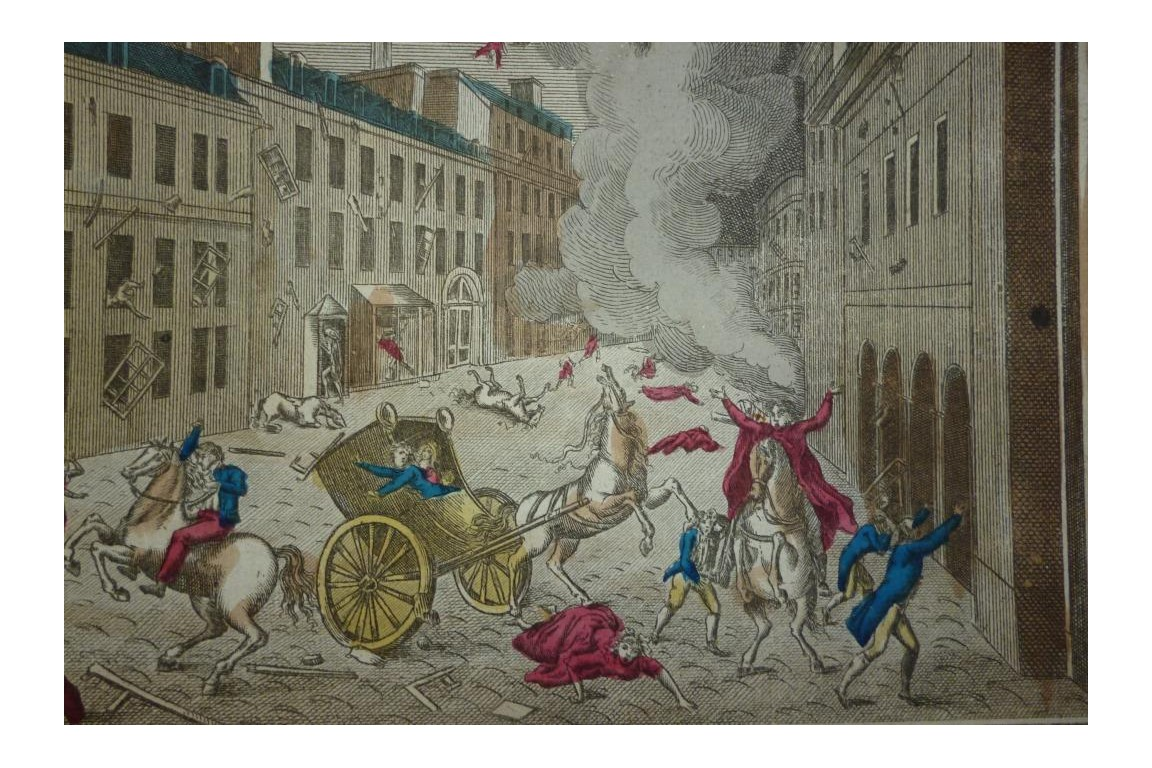 Explosion de la machine infernale, attentat contre Bonaparte, 1800