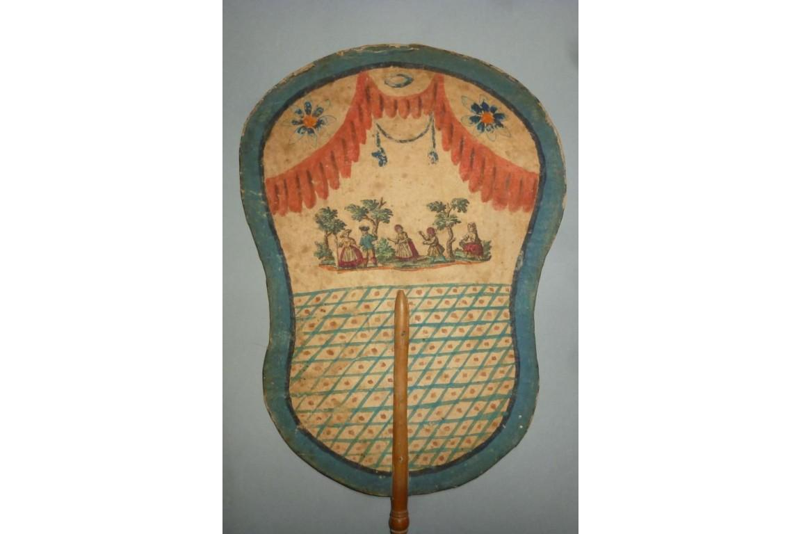 Arte povera fixed fan, 18th century