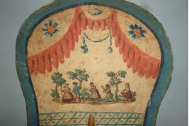 Colin maillard et longue vue, écran en Arte Povera XVIIIème siècle