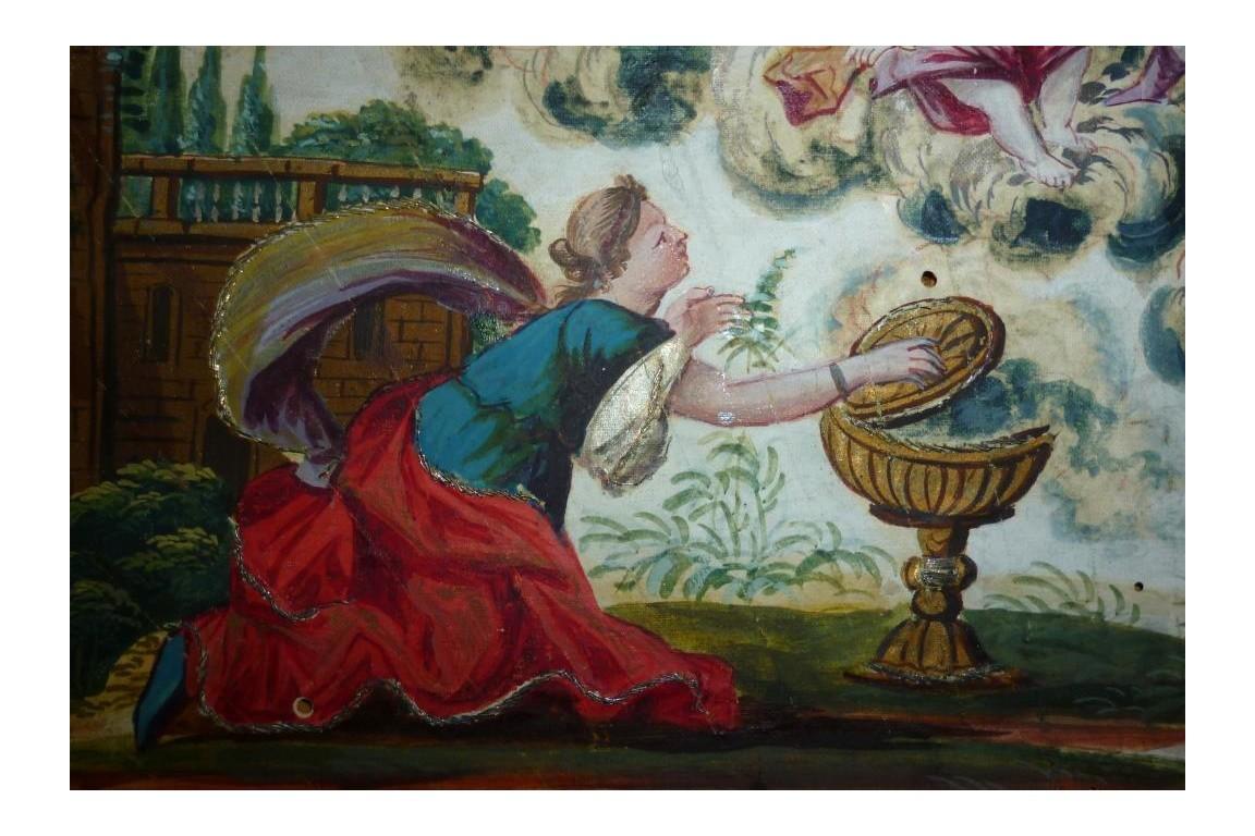 Offrandes à Junon, feuille d'éventail XVIIIème