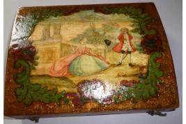 Coffret de quadrille, boîte de jeu XVIIIème siècle