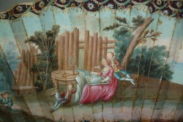 Astronomie du coeur, éventail vers 1730-40