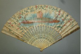 Lesson of astronomy, fan circa 1730-40