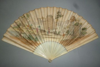 English Grand Tour, fan circa 1730