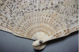 Chinese fan from Luenchun, 19th century