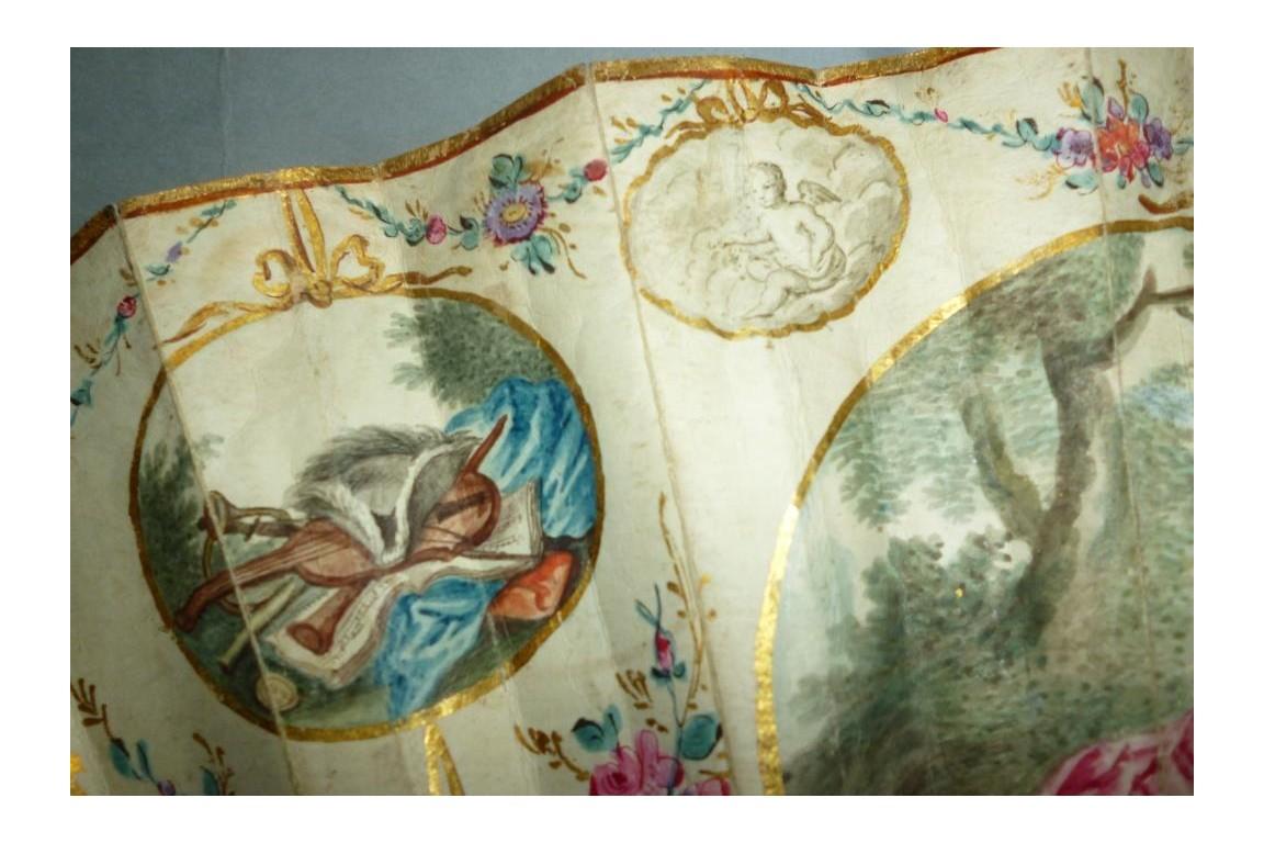 Fruits of love, fan circa 1770-80