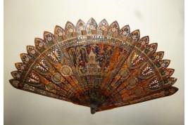 Horn chinoiseries, fan circa 1815-20