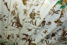 Diables et fantasmogories, d'après Eugène Le Poitevin, éventail vers 1832-40