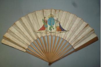 Le Tiers-État supportant le Clergé et la Noblesse, éventail vers 1789