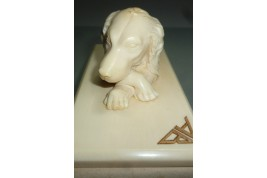 Dog, blotting paper, late 19th century