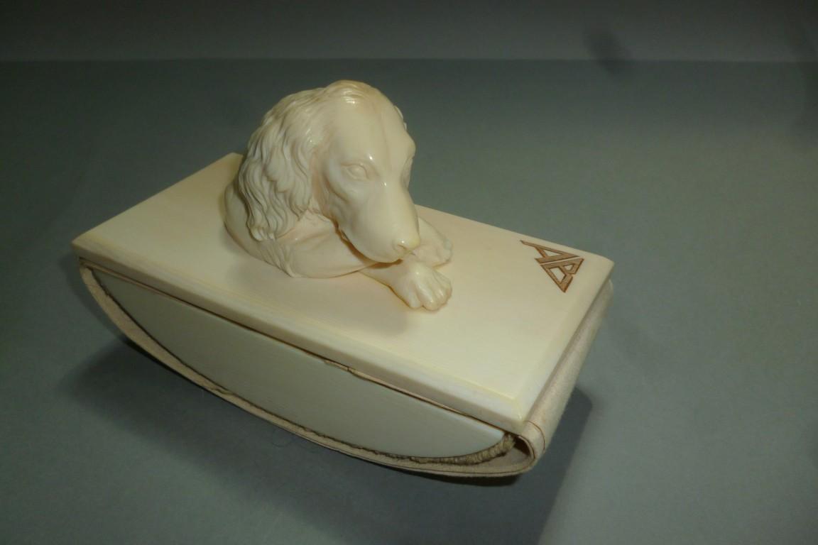 Le chien, buvard fin XIXème siècle