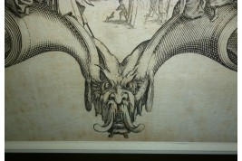 L'éventail d'après Callot, gravure XVIIIème