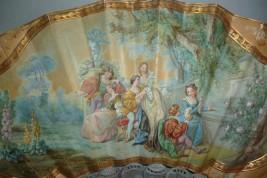 Amour galant de la Renaissance, éventail vers 1860