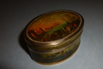 Snuffbox, boats, 1789-92