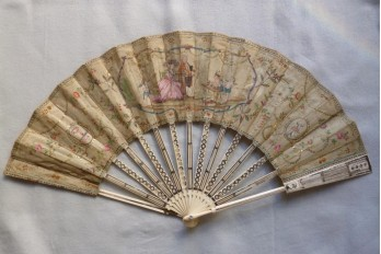 Magician, the conjurer of love, fan circa 1770-80