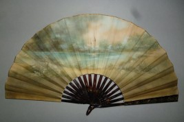 Country lunch, early 20th century fan