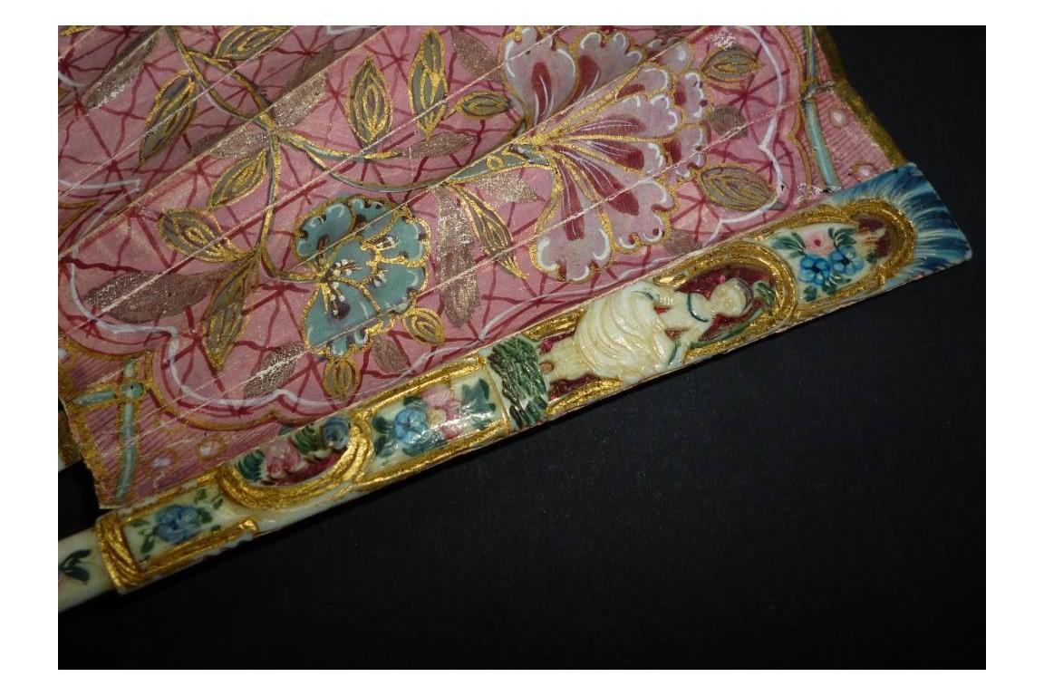 Pâris et la pomme d'or, éventail vers 1740
