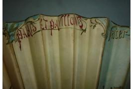 Universal exhibition, Paris 1900, sketch fan