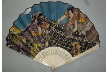 Fight on the Roof of the Hōryūkaku, fna since Utagawa Kunisada, circa 1900