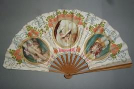 Cabaret du Rat Mort, éventail publicitaire vers 1900-1910