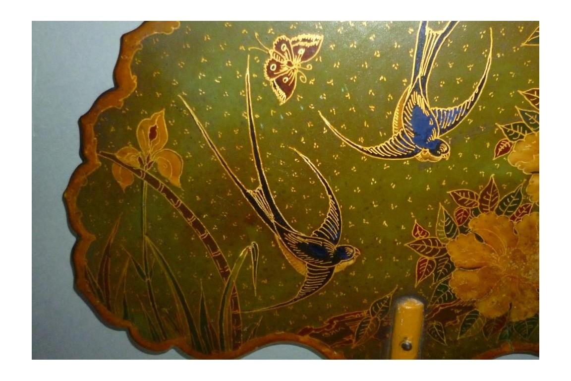 Hirondelles, paire d'écrans fin XIXème