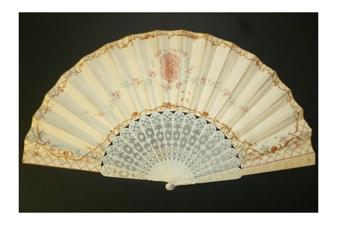 Love lunch, late 19th century fan