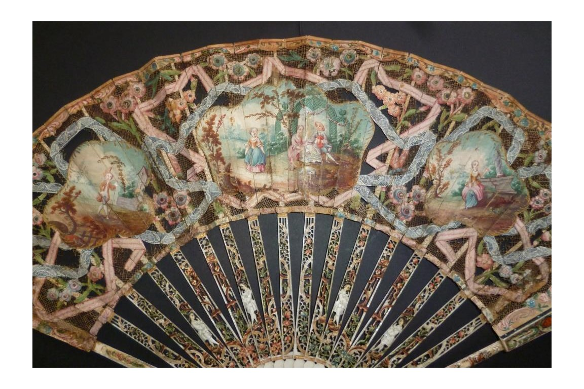 Revealed faces, fan circa 1770