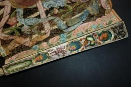 Visages en coulisse, éventail à coulisse vers 1770