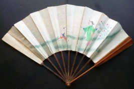 Surprise érotique, éventail à double entente, Chine XIXème siècle