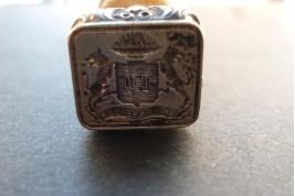 Vis et virtute, sceau à cacheter XIXème