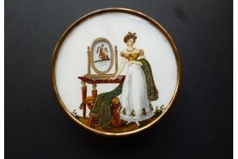 Visages de l'amour, boîte à système vers 1815-25