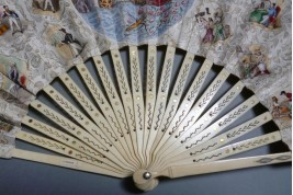 Destiny lottery,  fan circa 1840-50