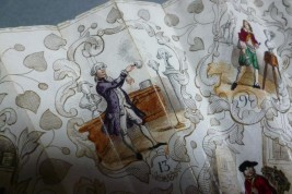 La loterie du destin, éventail jeu vers 1840-50