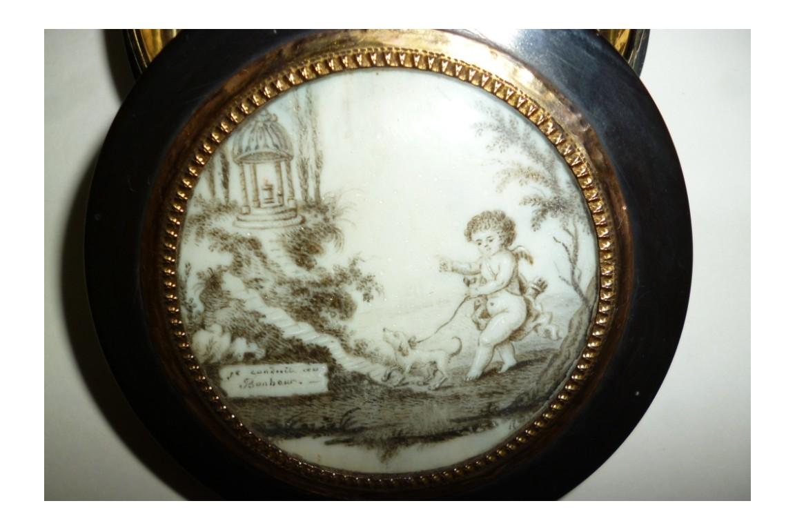 Fidélité et Bonheur, tabatière fin XVIII ou début XIXème siècle