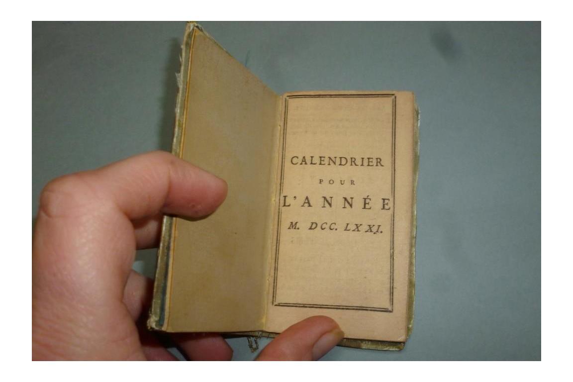 Carnet pour l'année 1771