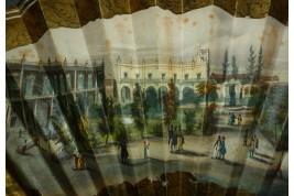 Place Vieja de La Havane à Cuba, éventail vers 1850