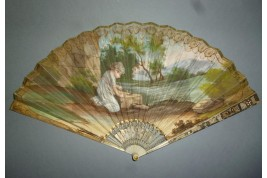 Girl, bird and Indian, fan cira 1805-10
