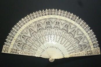 Gothic ornaments, fan circa 1835